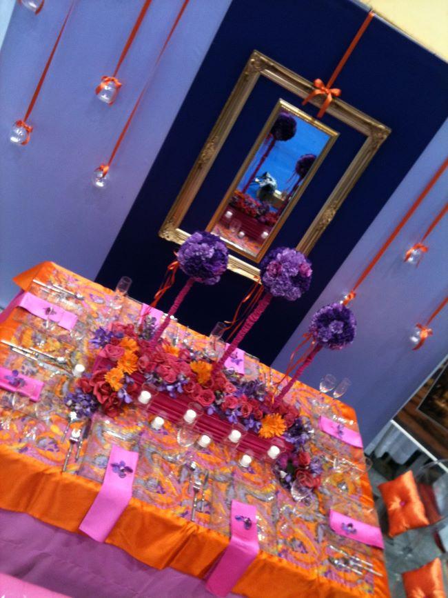 ideas para decorar un quinceañero color naranja