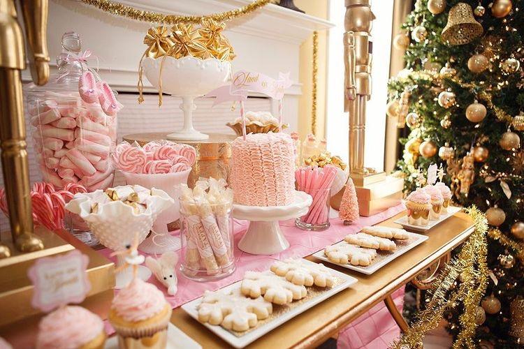 ideas para una mesa de dulces de Navidad