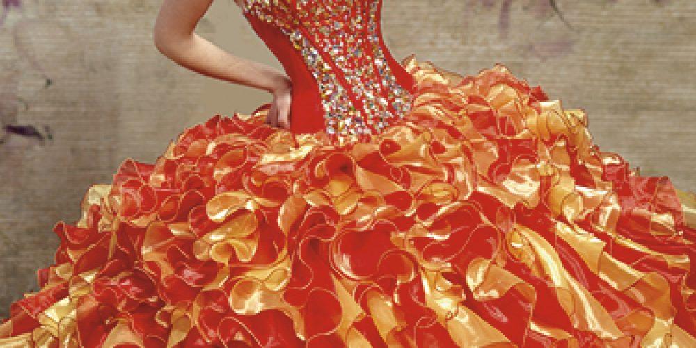 Vestidos Anaranjados para Quinceañeras